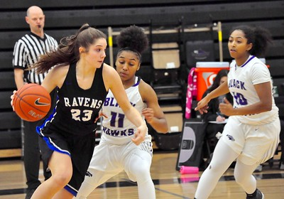 Bloomfield Hills hosted Royal Oak for an Oakland Activities Association crossover game on Friday, Dec. 1, 2017. (Photos by Dan Fenner/The Oakland Press)