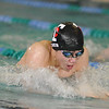 Troy's Max Chen competes in the breaststroke. (MIPrepZone photo by KEN SWART).