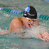 Jonathan Lee of Novi Detroit Catholic Central competes in the butterfly. (MIPrepZone photo by KEN SWART).