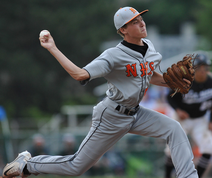 The Birmingham Brother Rice Warriors defeated the Northville Mustangs 9-2 in the MHSAA D1 Baseball Quarterfinal game played on Tuesday June 12, 2018 at Wayne State University.  (Oakland Press photo by Ken Swart)