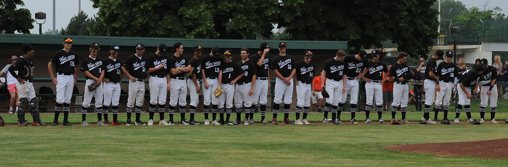 . The Birmingham Brother Rice Warriors defeated the Northville Mustangs 9-2 in the MHSAA D1 Baseball Quarterfinal game played on Tuesday June 12, 2018 at Wayne State University.  (Oakland Press photo by Ken Swart)