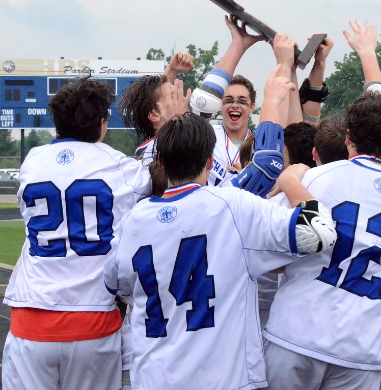 . Detroit Catholic Central defeated Birmingham Brother Rice, 11-10, to win the Division 1 boys lacrosse state championship on Saturday at Parker Middle School in Howell. (Oakland Press photo gallery by Drew Ellis)