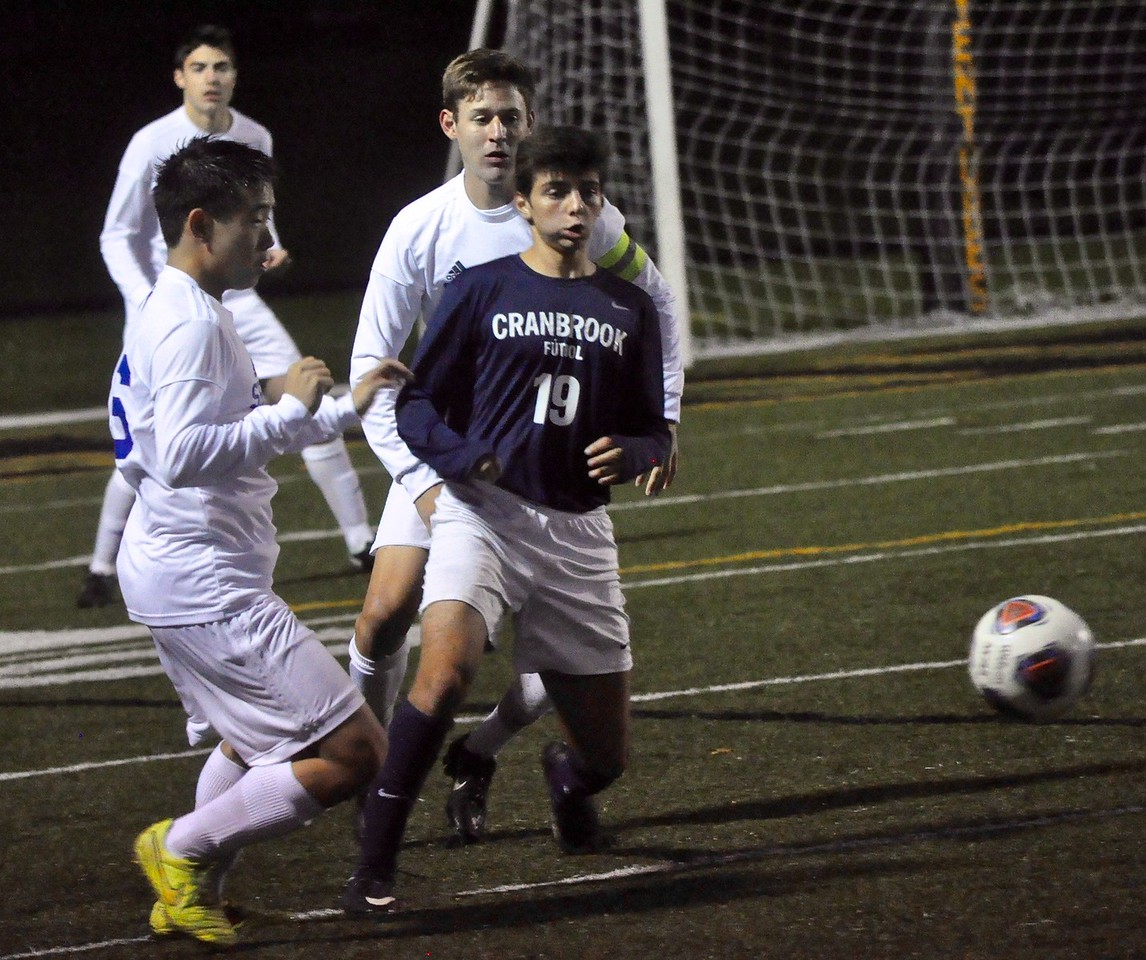 Novi Detroit Catholic Central faced off against Bloomfield Hills Cranbrook Kingswood in the Catholic League's A-B Division title game on Wednesday, Oct. 11, 2017 at Bishop Foley High School. (Photos by Dan Fenner/The Oakland Press)