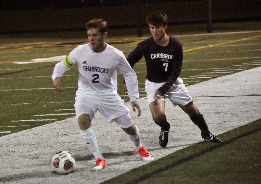 . Novi Detroit Catholic Central faced off against Bloomfield Hills Cranbrook Kingswood in the Catholic League�s A-B Division title game on Wednesday, Oct. 11, 2017 at Bishop Foley High School. (Photos by Dan Fenner/The Oakland Press)