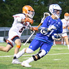 The Brother Rice Warriors saw their dominance of Michigan lacrosse continue with a 15-10 victory over Catholic Central in the CHSL Championship game Saturday night in Novi. (MIPrepZone photo by Timothy Arrick)