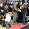 Davison wrestling coach Roy Hall had some enthusiasm for the Cardinals. (MIPrepZone photo by MARVIN GOODWIN).