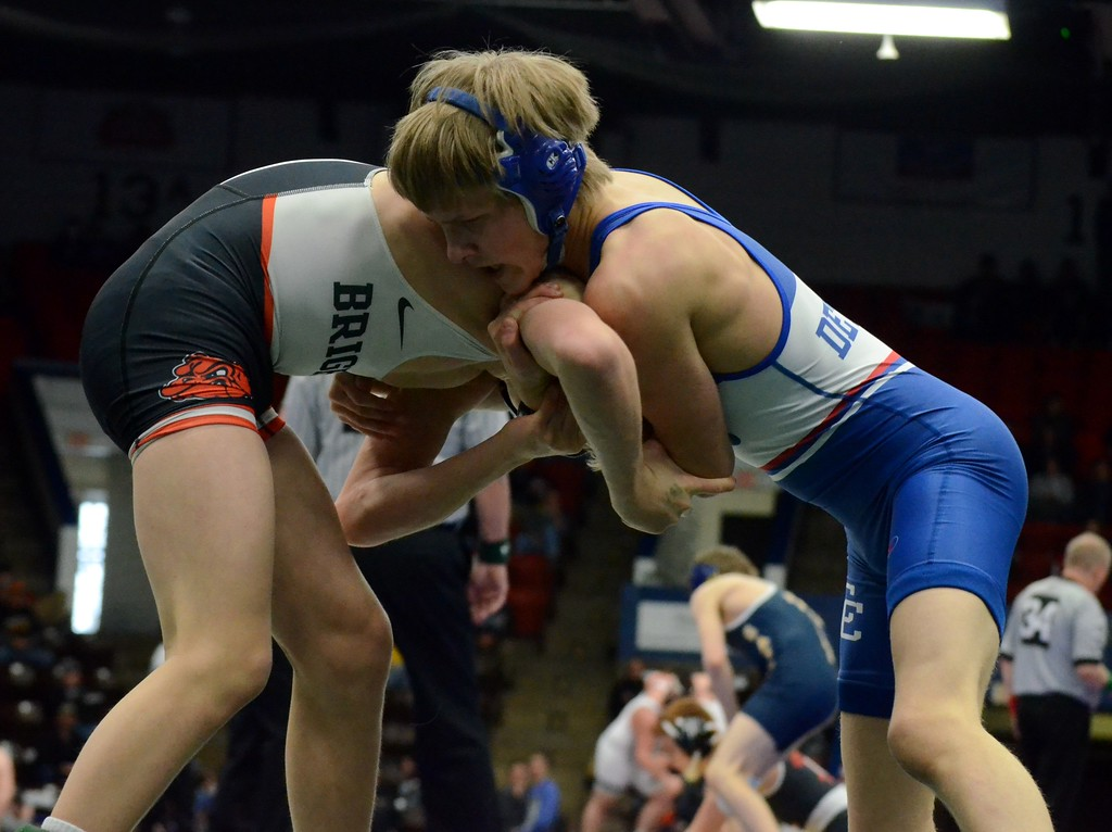 . Novi Detroit Catholic Central had a history-making performance in the D1 wrestling final on Saturday, defeating Brighton 57 to -1. The Shamrocks have now won back-to-back state championships. (Oakland Press photo gallery by Drew Ellis)