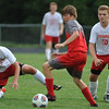 The Lutheran High Northwest Crusaders lost to the Clarenceville Trojans 1-0 in the match played on Wednesday September 7, 2016 at LHNW.  (MIPrepZone photo by Ken Swart)