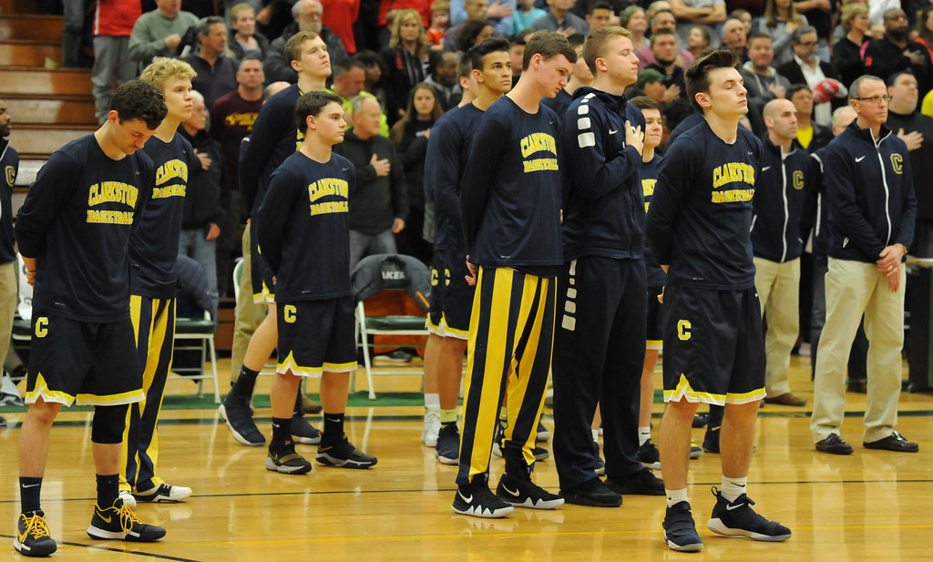 . The Clarkston Wolves defeated Orchard Lake St. Marys 58-35 to win the MHSAA Class A Regional title.  The game was played on Wednesday March 14, 2018 at West Bloomfield HS.  (Oakland Press photo by Ken Swart)