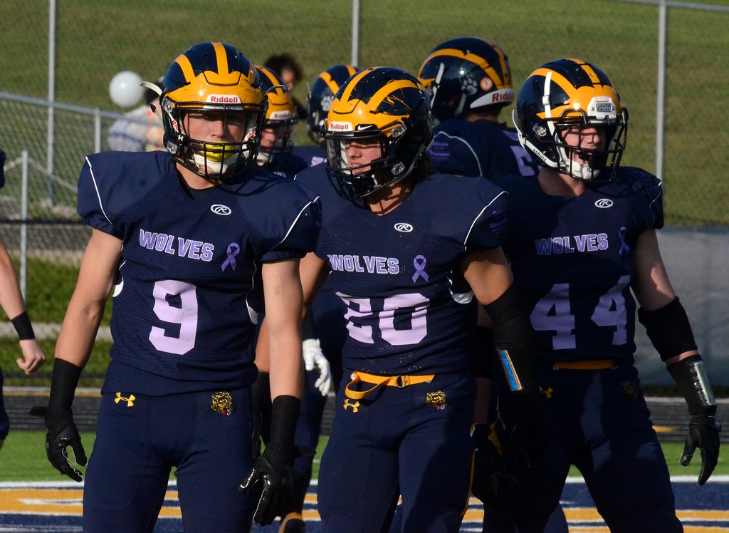 . Clarkston picked up a 34-20 win over Bloomfield Hills on Friday in the 9th annual Football For a Cure game. Players from both teams sported special jerseys that honored/paid tribute to someone that has been impacted by cancer. (Oakland Press photo by Drew Ellis)