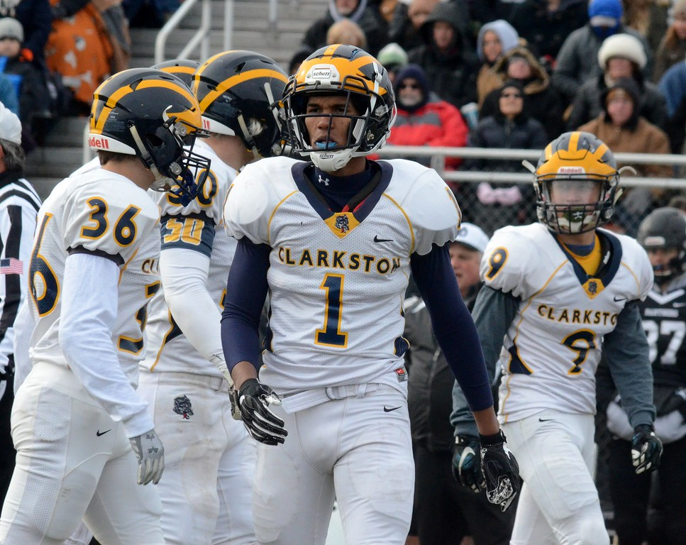 . Clarkston rallied from a 16-point deficit in the second half to defeat Holland West Ottawa 29-22 in the Division 1 regional final at West Ottawa High School on Saturday (Oakland Press photo gallery by Drew Ellis)