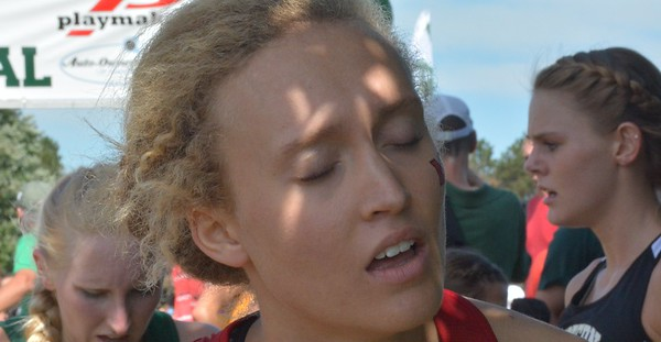 The anguish at the finish line was felt by this Miami (Ohio) runner.