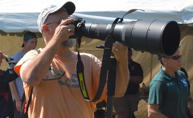 This was the biggest camera lens at the event.