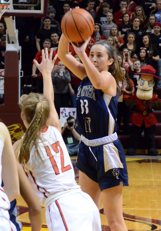 . Detroit Country Day won the 2018 Class B girls basketball state championship on Saturday at Calvin College, defeating Jackson Northwest 64-48. (Oakland Press photo gallery by Drew Ellis)