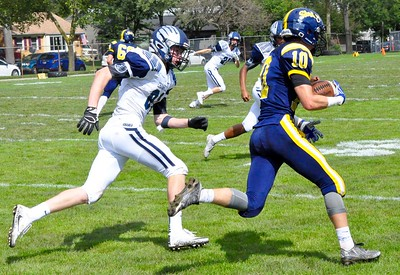 Royal Oak Shrine hosted Bloomfield Hills Cranbrook Kingswood for a Catholic League football game on Saturday, Sep. 9, 2017. (Photo gallery by Dan Fenner/The Oakland Press)
