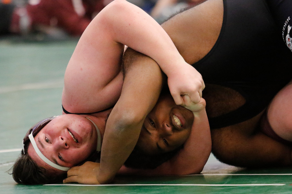 . A MHSAA Individual Division 1 District  Wrestling was held at Groves High School Saturday February 10, 2018. (Oakland Press photo by Timothy Arrick)