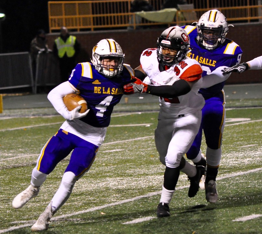. Warren De La Salle defeated Oak Park 14-7 in a Division 2 regional football final at Wayne State University on Friday, Nov. 10, 2017. (Photo gallery by Dan Fenner/The Oakland Press)