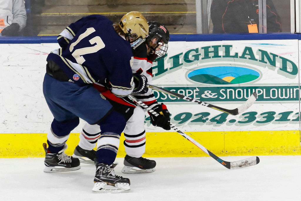 . Detroit Country Day survived a late surge by Livonia Churchill to take a 2-1 victory and capture the MHSAA Division III title Saturday March 10, 2018 at USA Hockey Arena in Plymouth. (Oakland Press photo by Timothy Arrick)