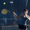 Bloomfield Hills sophomore Tia Mukherjee won her No. 1 singles match Monday against Detroit Country Day. (MIPrepZone photo by Jason Schmitt)