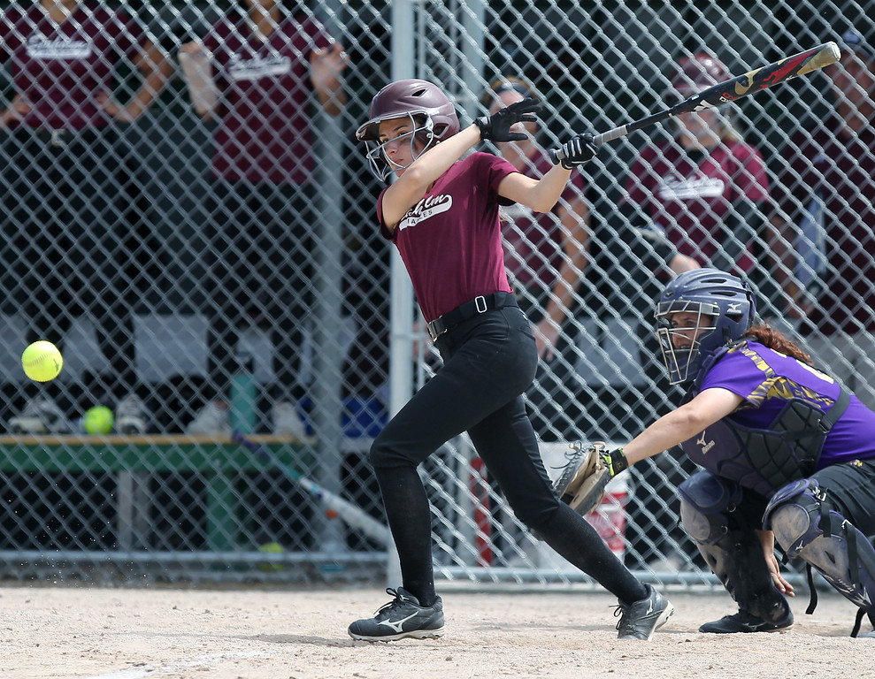 . District Softball action at Birmingham Groves High School Saturday, June 2, 2018. (For The Oakland Press / LARRY McKEE)