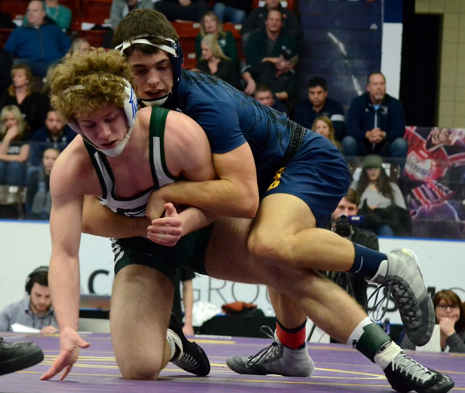 . Novi Detroit Catholic Central earned a 67-0 win over Hudsonville in the Division 1 wrestling quarterfinals while Hartland suffered a 30-29 loss to Brighton and Oxford suffered a 34-19 loss to Macomb Dakota. (Oakland Press photo gallery by Drew Ellis)