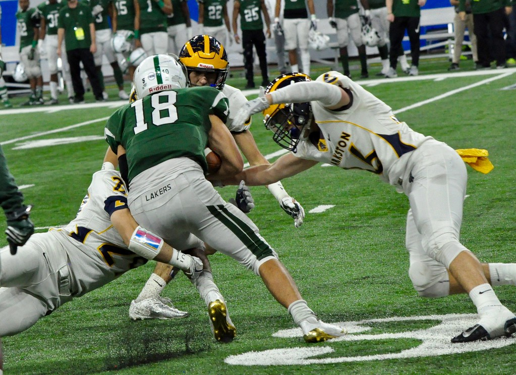 . Clarkston defeated West Bloomfield in the Division 1 football final on Saturday, 3-2, at Ford Field in Detroit. (Oakland Press photo gallery by Dan Fenner)