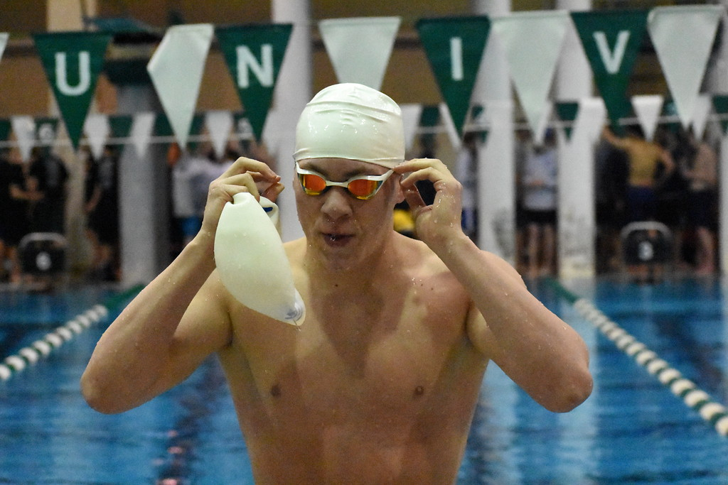. Three Oakland County teams placed among the top 10 at the 2018 MHSAA Boys Division 1 Swim & Dive Championships Saturday at Eastern Michigan. Brother Rice was third, Catholic Central seventh and Harrison-Farmington 10th overall. (Digital First Media photo by Jason Schmitt)
