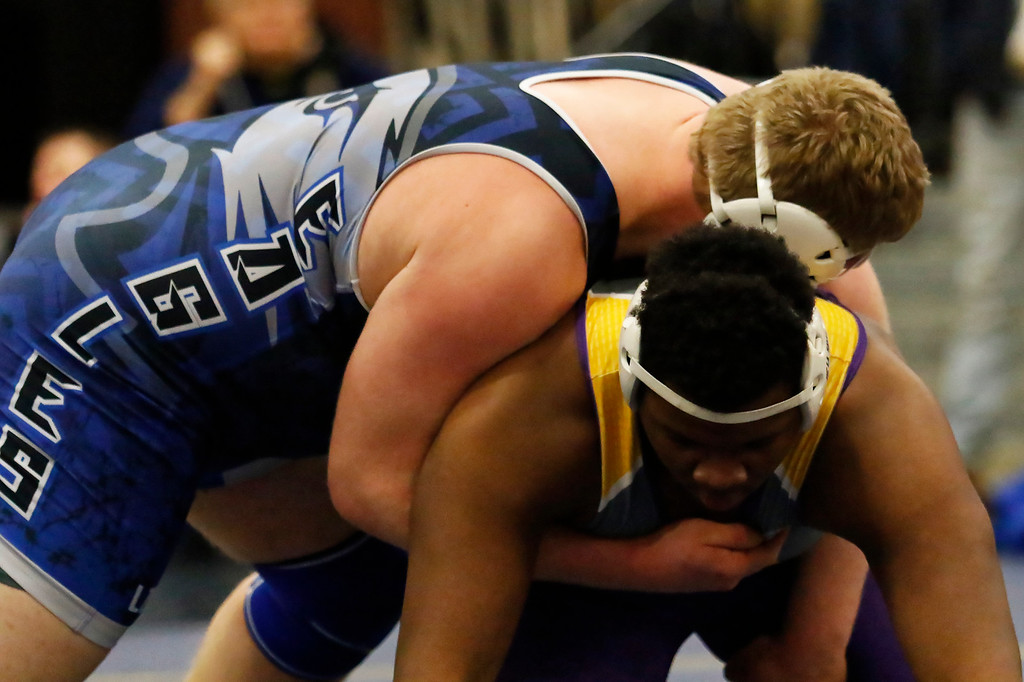 . Hartland High School hosted one of the Division 1 Regional Individual Wrestling Tournaments Saturday February 17, 2018. (Oakland Press photo by Timothy Arrick)