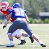After falling behind 20-0 in the first half, the West squad made a game of it in the second before ultimately falling to the East 20-14 in the 34th Annual Michigan High School All Star Football game in Saginaw on Saturday. (MIPrepZone photo by Timothy Arrick)