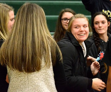 Novi senior setter Erin O'Leary was named the 2017 Miss Volleyball winner in a surprise assembly at Novi High School on Monday. (Oakland Press photo gallery by Drew Ellis)
