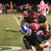 "Walled Lake Western wins the KLAA North Division title with a 31-16 win over Walled Lake Northern in the annual ""Warriors for Warriors Pink Out"" game on Friday, October 7, 2016 at Western. MIPrepZone photo by Chris Wall)"