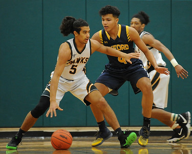 The Oxford Wildcats defeated the Farmington Hills Harrison Hawks 79-48 in the OAA Blue game played on Friday January 4, 2019 at Harrison HS.  (Digital First Media photo by Ken Swart)