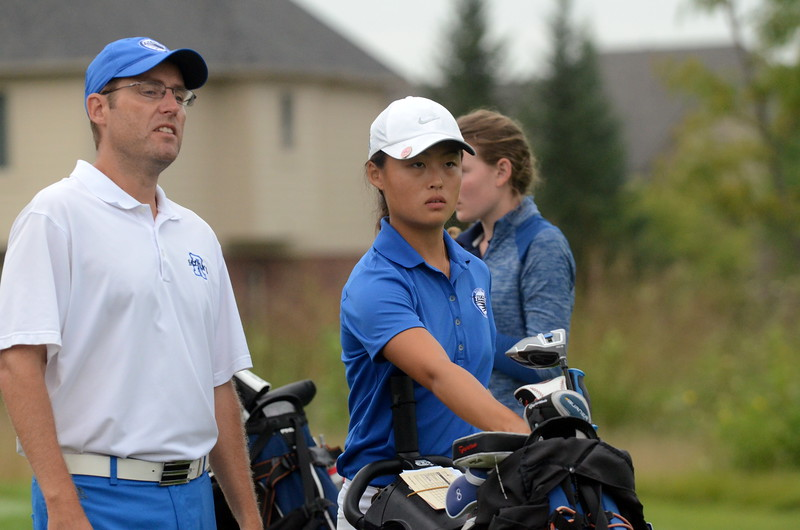 Rochester has asserted itself not only as the top girls golf team in Oakland County, but in the entire state of Michigan. The Falcons have won  all five tournaments they have entered. (MIPrepZone photo by Jason Schmitt)