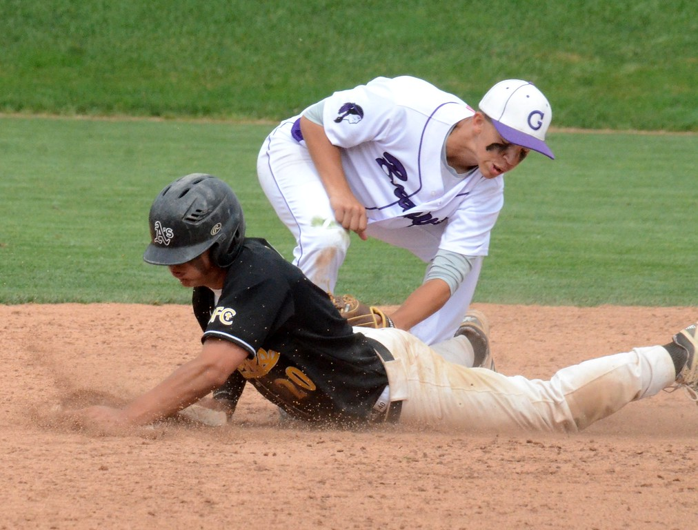 . Madison Heights Bishop Foley held on for a 7-5 win over Gladstone in the Division 3 baseball semifinal at Michigan State University on Friday afternoon. (Oakland Press photo gallery by Drew Ellis)