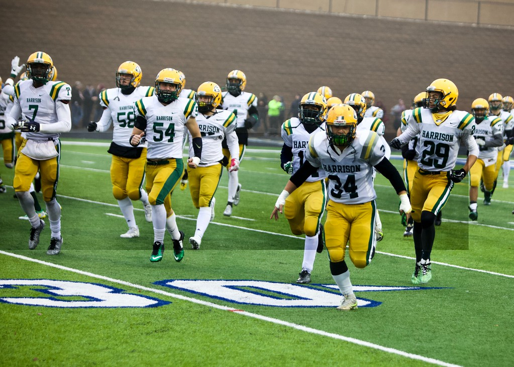 . Farmington Harrison will be making another trip to the state finals with their victory over Riverview today at Rochester High School.  (MIPrepZone photo by Tom Tomich)