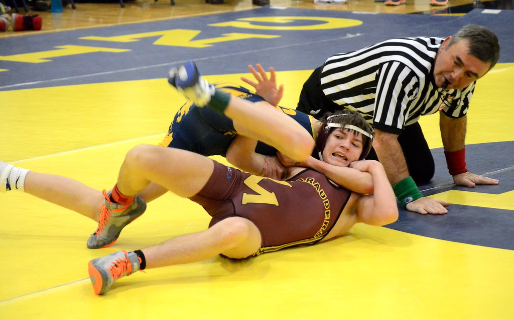 . Hartland claimed the Division 1 regional wrestling title on Wednesday, defeating Walled Lake Central in the final, 38-30. Seaholm and Warren Mott also took part in the tournament. (Oakland Press photo gallery by Drew Ellis)