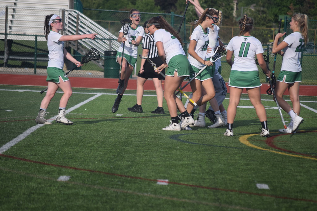 . Cranbrook Kingswood topped Farmington Hills Mercy in the opener, then Brighton edged Bloomfield Hills in girls lacrosse state semifinals at Novi High School on Wednesday. (Photo by Paula Pasche)
