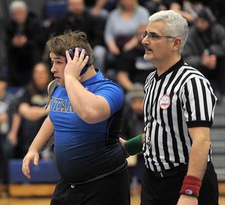 Warren Woods Tower wins regional championship wrestling match on February 13, 2019. MACOMB DAILY PHOTO BY DAVID DALTON