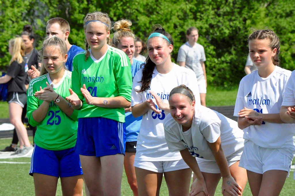 . Birmingham Marian and Warren Regina faced off in the Catholic League�s A-B Division championship game on Saturday, May 19, 2018. (Photo gallery by Dan Fenner/The Oakland Press)