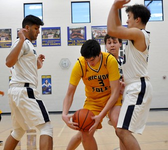 Madison Heights Bishop Foley and Ann Arbor Greenhills faced off in the CHSL Tournament semifinals on Wednesday, Feb. 13, 2019. (DAN FENNER - For Media News Group)