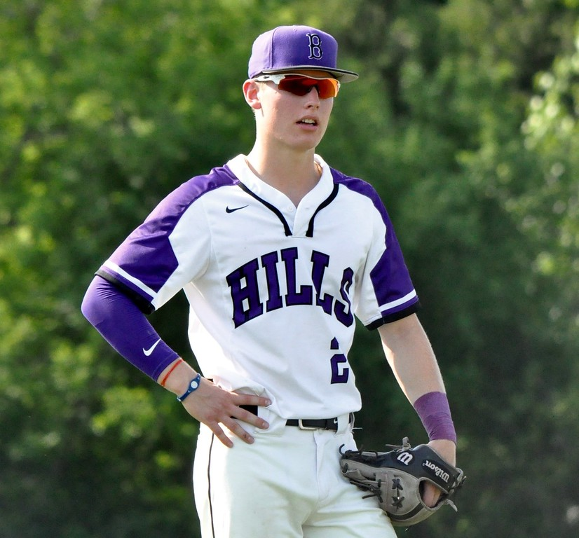 . Birmingham Groves hosted Bloomfield Hills for a district playoff opening game on Tuesday, May 29, 2018. (Photo gallery by Dan Fenner/The Oakland Press)