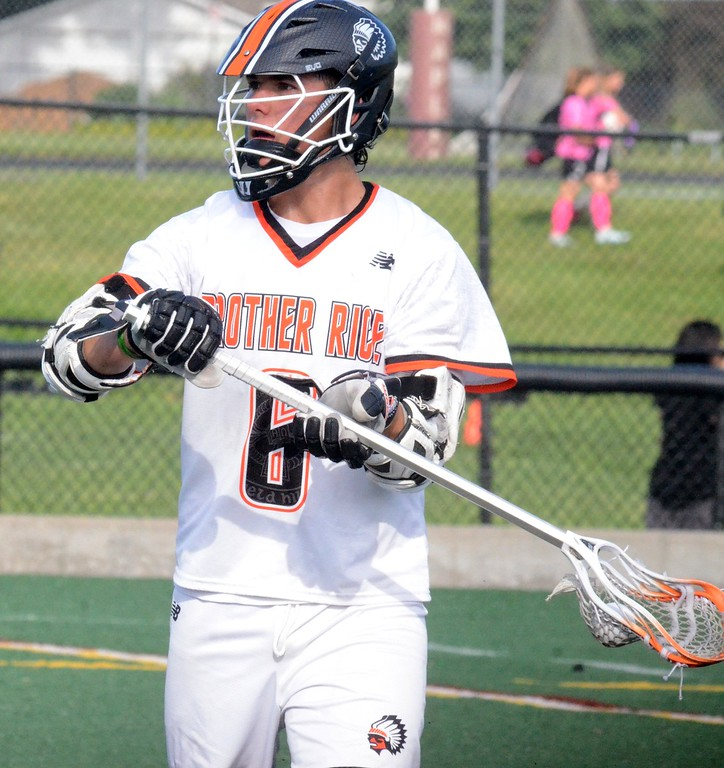 . The Birmingham Brother Rice lacrosse team defeated Bloomfield Hills 10-4 on Wednesday in a Division 1 boys lacrosse semifinal at Seaholm High School. (Oakland Press photo gallery by Drew Ellis)