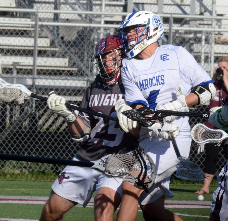 . The Novi Detroit Catholic Central boys lacrosse team earned a 23-4 win over Walled Lake Northern on Thursday in the Division 1 regional semifinal at Northern High School. (Oakland Press photo gallery by Drew Ellis)