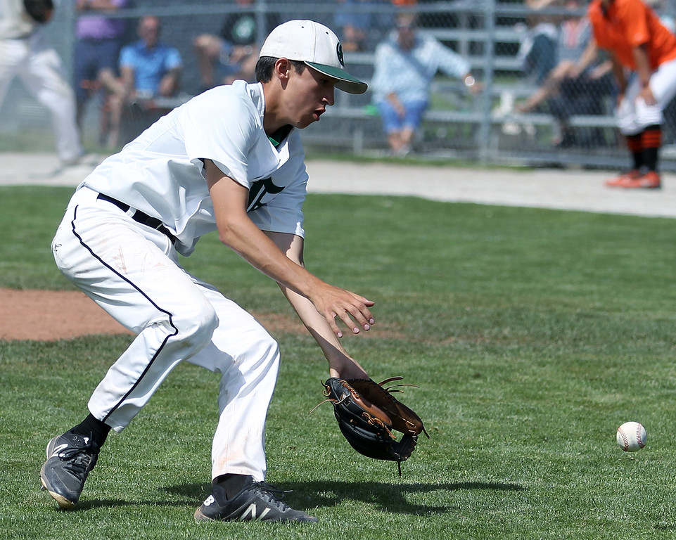 . District Baseball action at Birmingham Groves High School Saturday, June 2, 2018. (For The Oakland Press / LARRY McKEE)