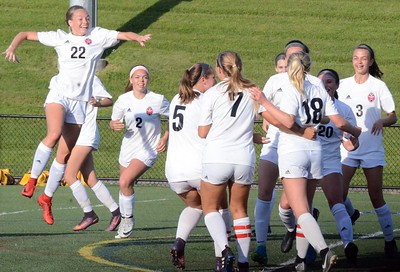 Rochester Adams fell to Grand Blanc in the Division 1 regional soccer final at Stoney Creek on Thursday, 3-0. (Oakland Press photo gallery by Drew Ellis)