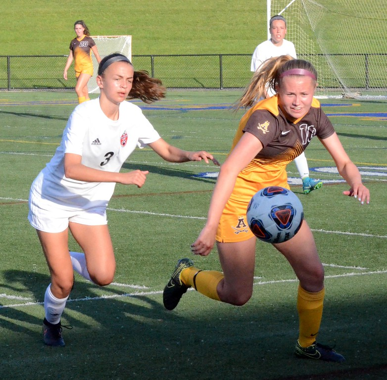 . Rochester Adams fell to Grand Blanc in the Division 1 regional soccer final at Stoney Creek on Thursday, 3-0. (Oakland Press photo gallery by Drew Ellis)