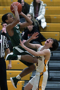 Rochester Adams defeats Birmingham Groves 47-38 in varsity basketball action at Adams High School Friday, Feb. 8, 2019. (For The Oakland Press / LARRY McKEE)