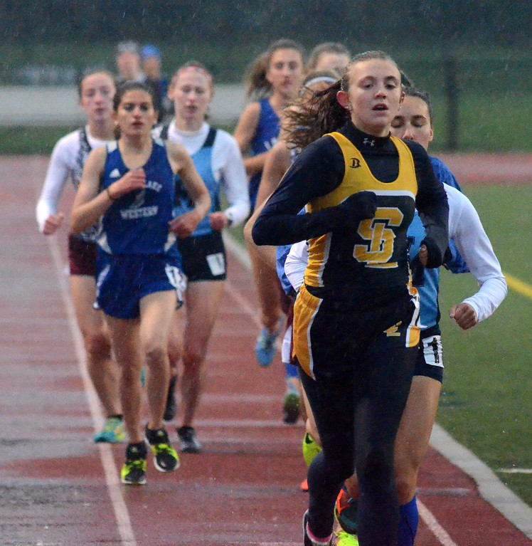 . Friday marked the first Lakes Valley Conference track championship meet and Milford came away with the girls title while Lakeland won the boys championship. (Oakland Press photo gallery by Drew Ellis)