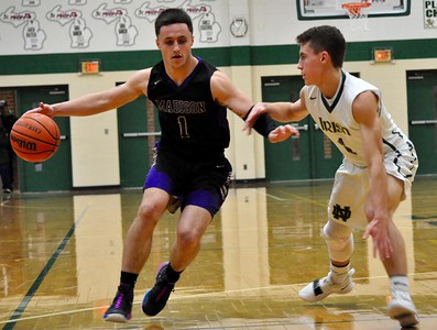 Pontiac Notre Dame Prep hosted Madison Heights Madison for a boys basketball game on Monday, Feb. 18, 2019. (DAN FENNER - For Digital First Media)