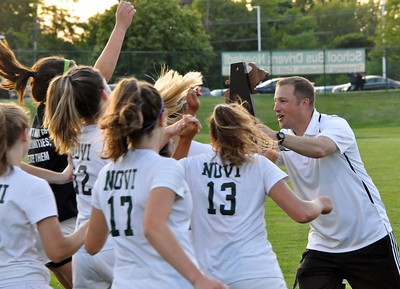 Novi defeated Saline 4-0 in a Division 1 girls soccer regional final on Thursday, June 7, 2018. (Photo gallery by Dan Fenner/The Oakland Press)